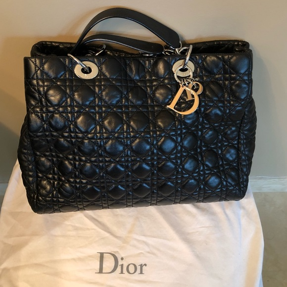 a8309468b8da Dior Handbags - ❗️SALE Christian Dior Cannage Leather Quilted Tote